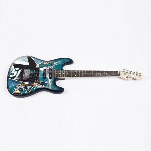 San Jose Sharks Woodrow Northender Electric Guitar