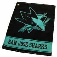 San Jose Sharks Woven Golf Towel