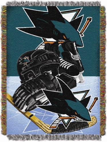 San Jose Sharks Woven Tapestry Throw Blanket