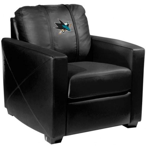 San Jose Sharks XZipit Silver Club Chair