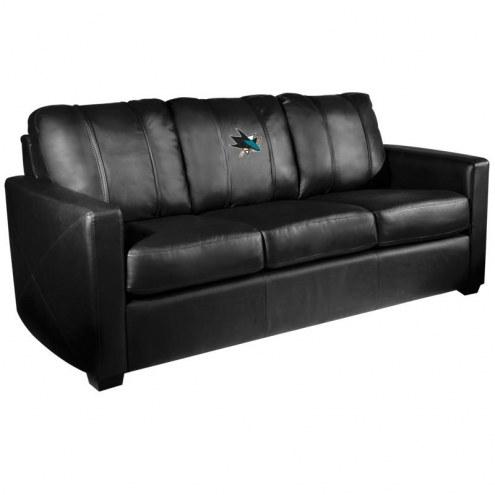 San Jose Sharks XZipit Silver Sofa