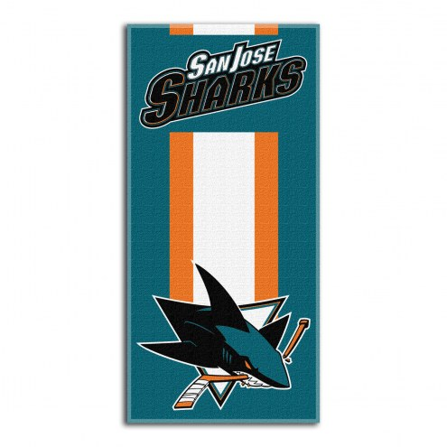 San Jose Sharks Zone Read Beach Towel