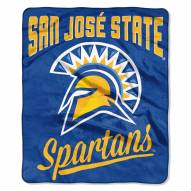 San Jose State Spartans Alumni Raschel Throw Blanket