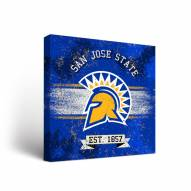 San Jose State Spartans Banner Canvas Wall Art