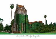 San Jose State Spartans Campus Images Lithograph