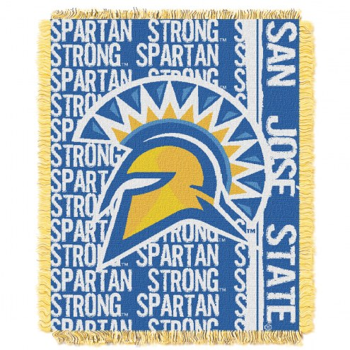 San Jose State Spartans Double Play Woven Throw Blanket