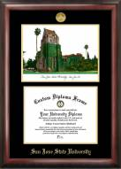 San Jose State Spartans Gold Embossed Diploma Frame with Lithograph