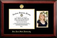 San Jose State Spartans Gold Embossed Diploma Frame with Portrait