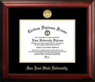 San Jose State Spartans Gold Embossed Diploma Frame