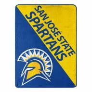 San Jose State Spartans Halftone Micro Raschel Throw Blanket