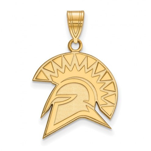 San Jose State Spartans NCAA Sterling Silver Gold Plated Large Pendant