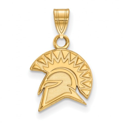San Jose State Spartans NCAA Sterling Silver Gold Plated Small Pendant