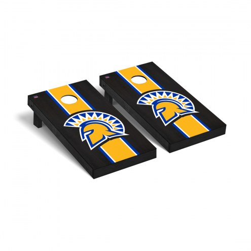 San Jose State Spartans Onyx Stained Cornhole Game Set