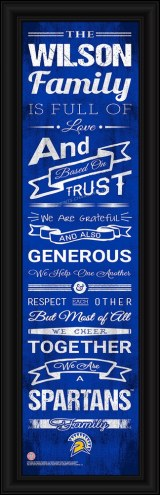 San Jose State Spartans Personalized Family Cheer Framed Art