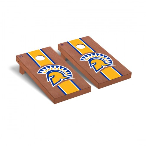 San Jose State Spartans Rosewood Stained Cornhole Game Set
