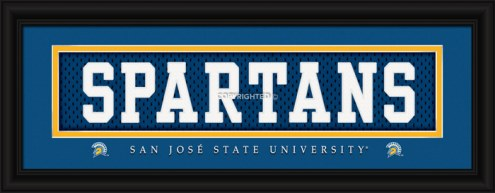 """San Jose State Spartans """"Spartans"""" Stitched Jersey Framed Print"""