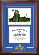 San Jose State Spartans Spirit Diploma Frame with Campus Image