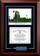 San Jose State Spartans Spirit Graduate Diploma Frame
