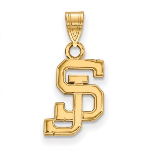 San Jose State Spartans Sterling Silver Gold Plated Small Pendant