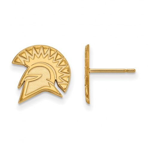 San Jose State Spartans Sterling Silver Gold Plated Small Post Earrings