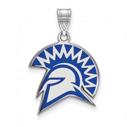 San Jose State Spartans Sterling Silver Large Enameled Pendant