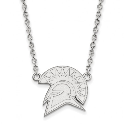 San Jose State Spartans Sterling Silver Large Pendant Necklace