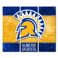 San Jose State Spartans Triptych Double Border Canvas Wall Art