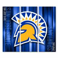 San Jose State Spartans Triptych Rush Canvas Wall Art
