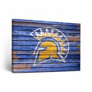 San Jose State Spartans Weathered Canvas Wall Art