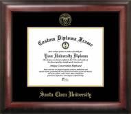 Santa Clara Broncos Gold Embossed Diploma Frame