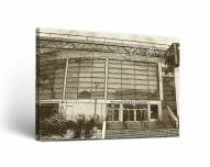 Santa Clara Broncos Sketch Canvas Wall Art