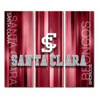 Santa Clara Broncos Triptych Rush Canvas Wall Art