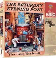 Saturday Evening Post Road Block 1000 Piece Puzzle