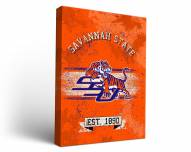 Savannah State Tigers Banner Canvas Wall Art