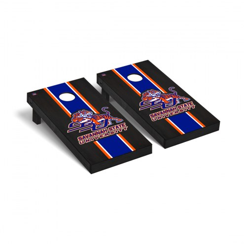 Savannah State Tigers Onyx Stained Cornhole Game Set