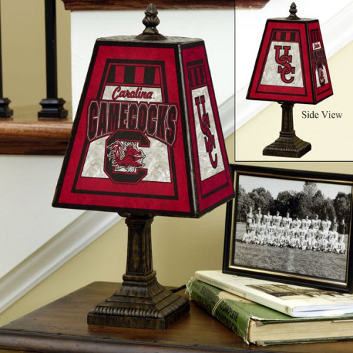 South Carolina Gamecocks NCAA Hand-Painted Art Glass Table Lamp