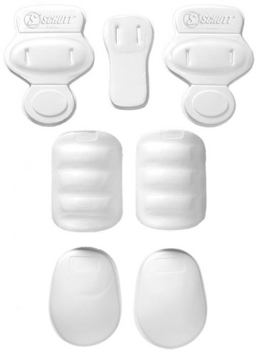 Schutt Youth Lightweight 7 Piece Slotted Football Pad Set - White
