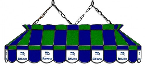 "Seattle Seahawks NFL Team 40"" Rectangular Stained Glass Shade"