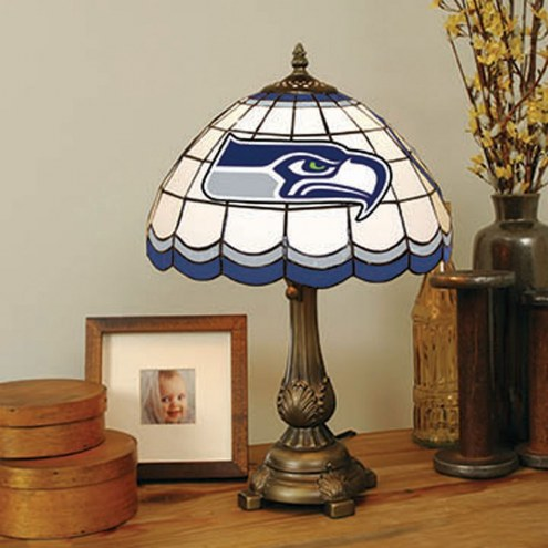 Seattle Seahawks NFL Stained Glass Table Lamp