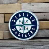 "Seattle Mariners 12"" Steel Logo Sign"