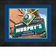 Seattle Mariners 13 x 16 Personalized Framed Sports Pub Print