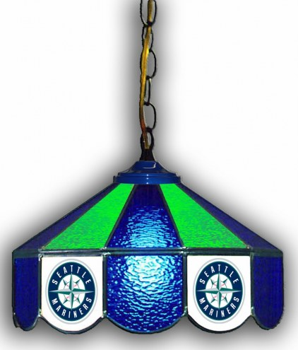 "Seattle Mariners 14"" Glass Pub Lamp"
