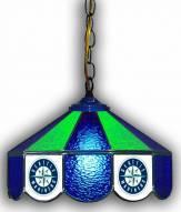"Seattle Mariners 14"" Glass Pub Lamp"
