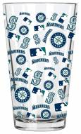 Seattle Mariners 16 oz. All Over Print Pint Glass