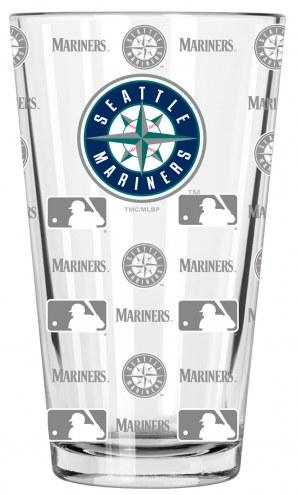 Seattle Mariners 16 oz. Sandblasted Pint Glass