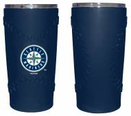 Seattle Mariners 20 oz. Stainless Steel Tumbler with Silicone Wrap