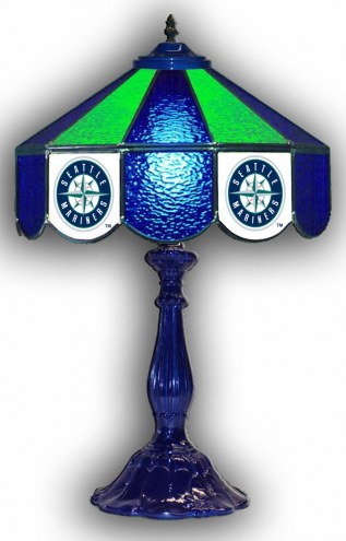 """Seattle Mariners 21"""" Glass Table Lamp"""