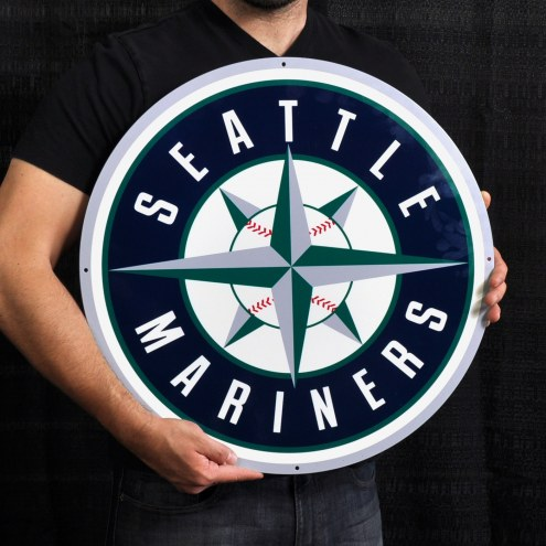 "Seattle Mariners 24"" Steel Logo Sign"