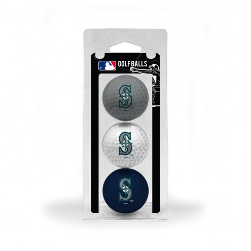 Seattle Mariners 3 Pack of Golf Balls
