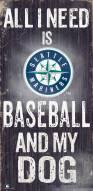Seattle Mariners Baseball & My Dog Sign